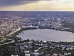 evening over lake Alster