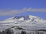 mount Snöhetta in Dovrefjell in snow