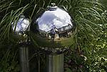selfie on silver spheres