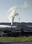 rauchender Schornstein in Stjördal