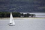 Segelboot im Sandnessund