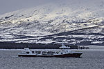 fishtransportship Steigen near Tromso