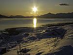 arctic sun over Malangen