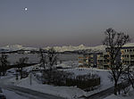 Mond und Gürtel der Venus über Kvalöya
