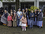 women in frisian costumes on island Helgoland