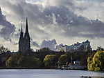 autumn at lake Alster