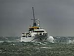 Seebäderschiff Helgoland in schwerer See