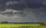 wind park and rainbow in East Frisia