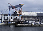 submarines in shipyard in Kiel