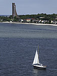 sailing boat at Naval Memorial in Laboe