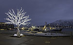 fishing boats in Tromso in Xmastime