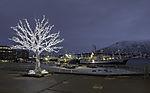 Fischerboote in Tromsö in Adventzeit