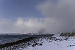 Schneesturm zieht herauf