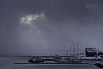 Bootshafen in Polarnacht