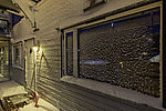 snow on house wall