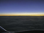 Morgendämmerung über den Wolken