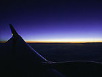 dawn over the clouds