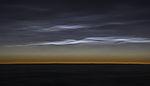 Polare Stratosphärenwolken am Morgenhimmel
