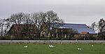 Bauernhof mit Solarzellen