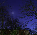 crescent Moon and Venus in evening sky