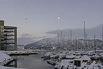 Mond über Tromsö