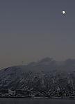 Moon over Tromso