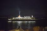 cruiseship Black Watch in polar night