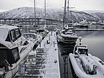 winter in Tromso harbour