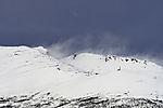 snow drift on mount Lille Blåmannen