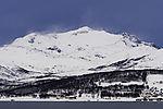 snow drift on mount Skittentinden