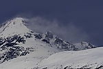 snow drift on mount Store Blåmannen