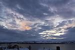 evening sky over island Kvalöya