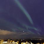 planet Venus and aurora near Tromso