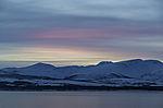 winter dusk over island Kvalöya