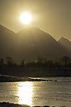 morning sun over mountains