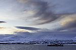 windclouds over island Kvalöya