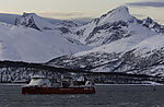 freighter powered by natural gas near Tromso
