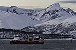 gasbetriebener Frachter Kvitnos bei Tromsö