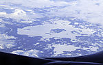 winter landscape in middle Norway from the air