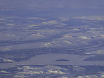 winter landscape in southern Norway from the air