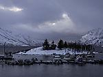boat harbour in winter