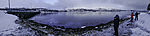 winter landscape in northern Norway panorama