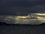 crepuscular rays over Malangenfjord