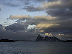 island Haaja under clouds