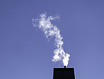smoke over chimney