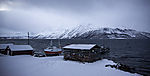 kleiner Fischerhafen am Kjosenfjord