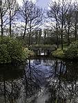 bridge in palace garden Lütetsburg in spring