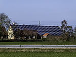 farm with solar power