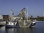 fishing boats in Norddeich harbour