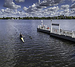 paddling on lake Alster